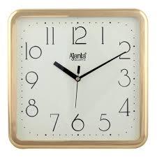 ajanta quartz square plastic wall clock 23 9 cm x 3 2 cm x 23 9