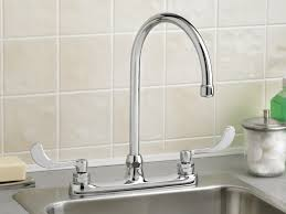 faucet delta single handle kitchen faucet spring pull down