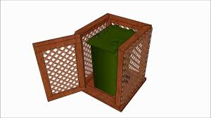 Free Wooden Garbage Box Plans by Trash Can Enclosure Plans Youtube