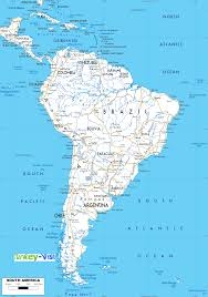 Map Of South America And Caribbean by Map Of South America
