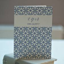 moroccan style blue mosaic folded wedding invitations by beautiful