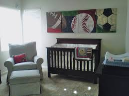 Boy Nursery by Sports Theme Baby Boy Nursery You Can See That The Paintings