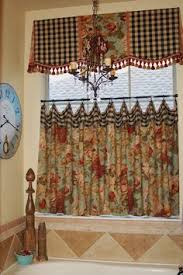 Tuscan Kitchen Curtains Valances by French Country Valance Balloon Shade Curtain Red Gold Waverly