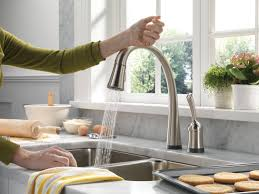 What Is The Best Kitchen Faucet Brushed Nickel Kitchen Sink Faucet With Pull Down Sprayer