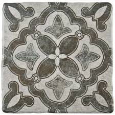 Floor And Home Decor Merola Tile Costa Cendra Decor Clover 7 3 4 In X 7 3 4 In