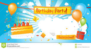 Happy Birthday Invitation Card Template Party Invitations Happy Birthday Party Invitation Colourfull