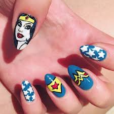 wonder woman nail art popsugar beauty