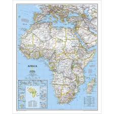 Map Of Mali Africa by Africa Classic Wall Map National Geographic Store