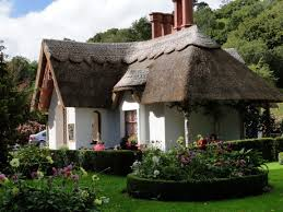 rustic house teas house and thatched roof