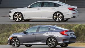 2018 honda accord vs 2017 honda civic youtube