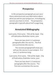 How to Annotated Bibliography Example