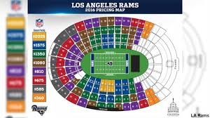 Map Pricing Los Angeles Rams Unveil Ticket Prices For 2016 Abc7 Com