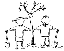 clipart image of a girl and a boy just finished planting, borrowed from t3.gstatic.com