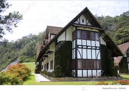 Tudor Style by Residential Architecture Colonial Tudor Style Mansion Stock
