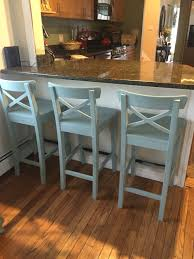 Bar Stool For Kitchen Island Ikea Counter Stools Painted With Annie Sloan Chalk Paint In Duck