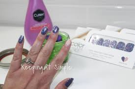 keeping it simple tips on how to remove color street glitter nail