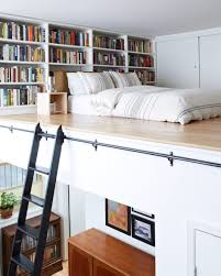 White Short Bookcase by Interiors Best Reading Nook Features Mini Mezzanine Loft Bed