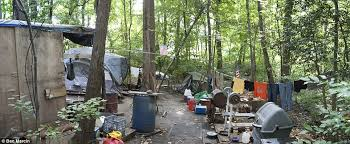 Baltimore's people of the woods: Inside the hidden homeless camps made of
