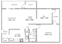 Two Bedroom Apartment Floor Plans Apartment Floor Plans One Bedroom Den Apartments In Clifton
