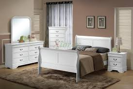 King Size Bedroom Set With Armoire Semi Gloss Sleigh Like Bedroom Furniture Set 170 In Cherry Black White