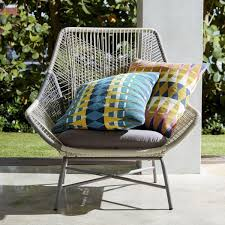 West Elm Outdoor by Outdoor Reflected Diamond Cushion Blue Jewel West Elm Au