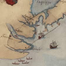 Roanoke Virginia Map by La Virginea Pars Map 1585 John White Battlemaps Us