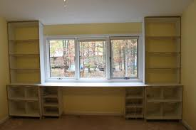 amazing bookcase with desk built in 46 for ikea shallow bookcase