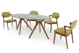 Oval Dining Room Tables Skylar Mid Century Glass Oval Dining Table