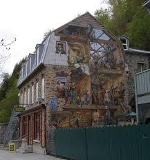 rambling traveler wall murals of quebec city petit champlain mural quebec city wall mural