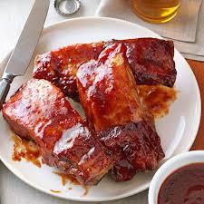 plum glazed country ribs recipe taste of home