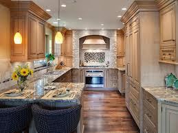kitchen scenic narrow kitchen design with brown wooden kitchen