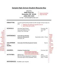 Student Resume Examples First Job by Sample Resumes For High Students With No Job Experience