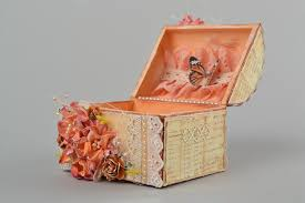 madeheart u003e handmade scrapbooking jewelry box with flowers
