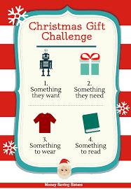 4 gift christmas challenge want need wear u0026 read money