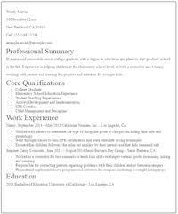 Teacher Resume Sample Easy Resume Samples