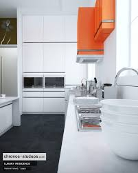 Ivory White Kitchen Cabinets by Making Of Ivory White Contemporary Kitchen 3d Rendering