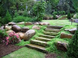 Garden Natural Impression About Large Landscaping Rocks With