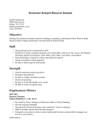 Sample Investment Banking Analyst Resume Best Business Analyst Resume Resume For Your Job Application