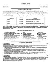 Sales and Marketing Resume Samples   marketing and sales resume