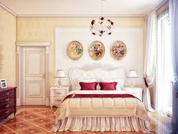 cream red bedroom scheme interior design ideas