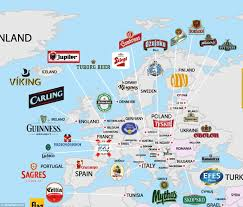 Map Of Ireland And England World Beer Map Shows Every Country U0027s Most Popular Brew Daily