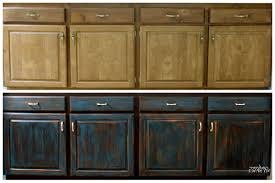 Antiqued Kitchen Cabinets by Black Distressed Kitchen Cabinets Grey Blue Distressed Kitchen