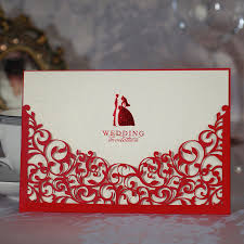 Printable Invitation Card Stock Aliexpress Com Buy Wholesale 50pcs Lot Red Hollow Flower Laser