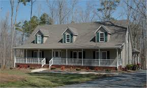 Single Story House Styles House Plans With Porches Withal Single Story Country Home Plans
