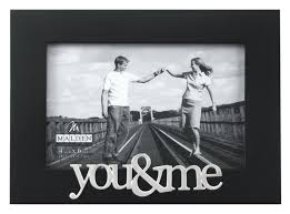 malden expressions black wood picture frame you and me 4 by 6