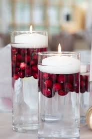 Purple Floating Candles For Centerpieces by Set Of Cylinder Vases With Diamante Bands And Placed On A Mirror