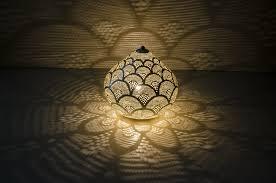 Small Lamp Table Table Lamp Princess Fan Small Silver Zenza Oriental Decor Oranjade