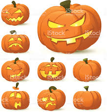 halloween pumpkin faces stock vector art 165671397 istock