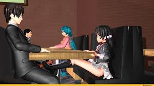 3d lolis hentai gif|00s 0verflow 1boy 1girl age_difference ahoge animated animated_gif antennae  arm_support barefoot black_hair blush bottomless breasts camisole