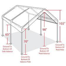 Canopy Carports Metal Carports Canopy Carport Kits Tent Garage Cover Frame Steel